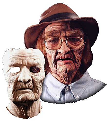 UHC Men's Old Man Prosthetic Face Theme Party Latex Halloween Costume -