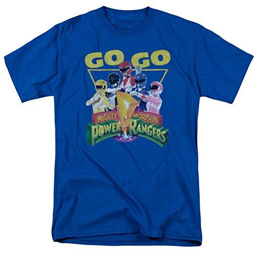 Power Rangers/GO GO-S/S Adult 18/1-ROYAL BLUE-2X