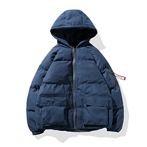 Hgfjn männer - Mode Kleidung, Teenager Kapuzenmantel, männer aus ausgestopften Kleidern,Blau,5XL