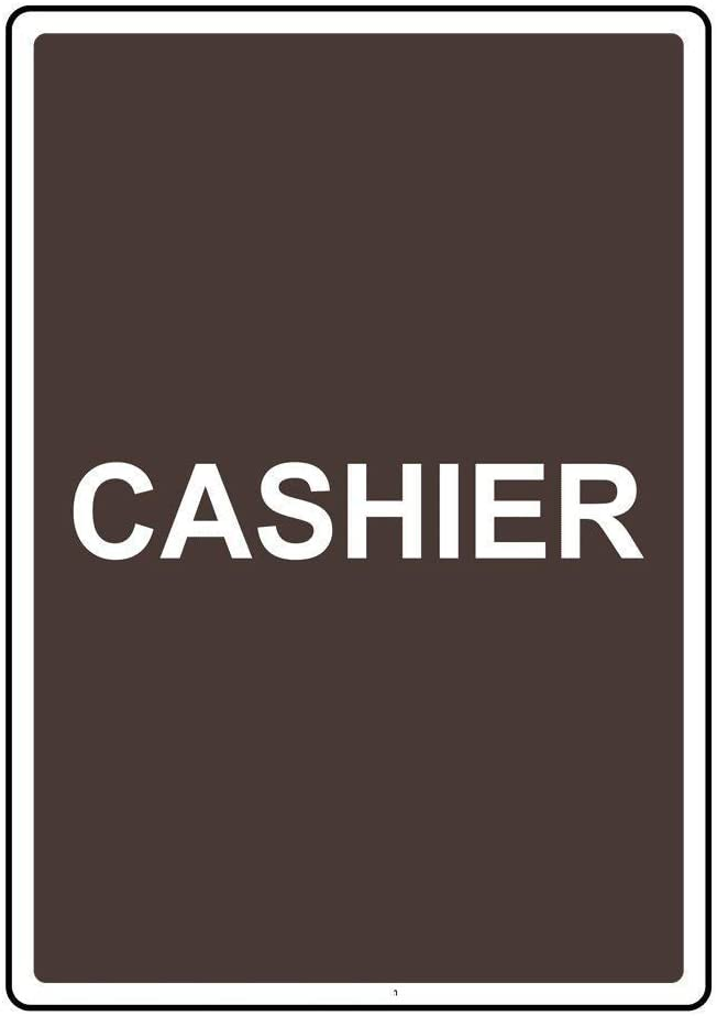 Street Signs DYLAN MILLER Road Sign Cashier Sign BIN0515 8 x 12 Inches Metal Sign Durable Indoor and Outdoor Signs