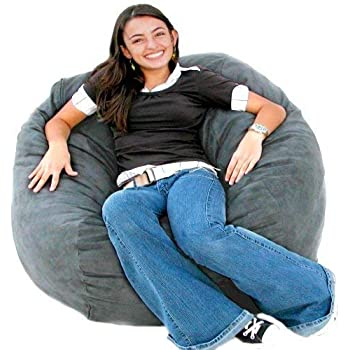 Amazon Com Cozy Sack 3 Feet Bean Bag Chair Medium Grey