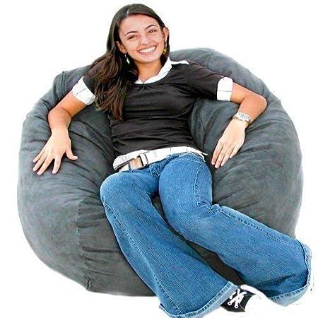 amazon com cozy sack 6 feet bean bag chair large earth kitchen rh amazon com