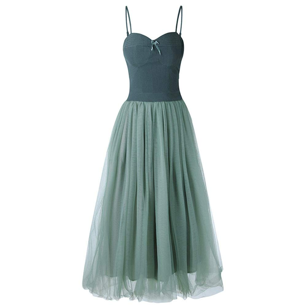 Green Women Formal Bridesmaid Gowns Women Sweetheart Adjustable Spaghetti Strap Sleeveless Evening Dress Mesh Tulle Formal Cocktail Party Dress Swing ALine Dress Bridesmaid Wedding Dress Prom Ball Gowns Ev