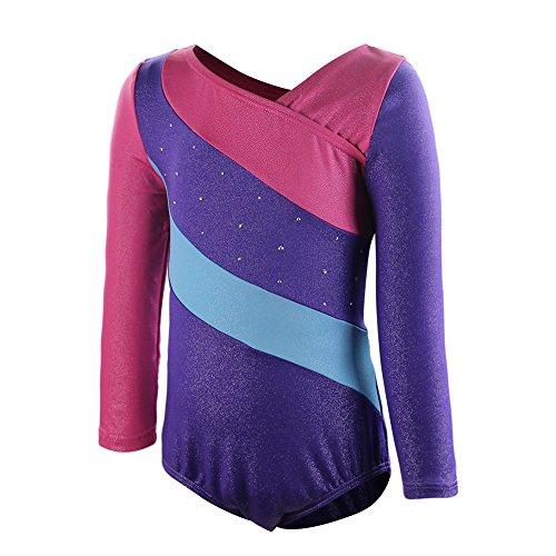 DrCosy One-Piece Sparkle Gymnastic Girl Leotards Dance Unitard Athletic Bodysuit (Gymnast Costume)