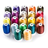 1000 Meters Huge Spool Polyester Embroidery Machine Thread Different Colors Set for Janome Brother P