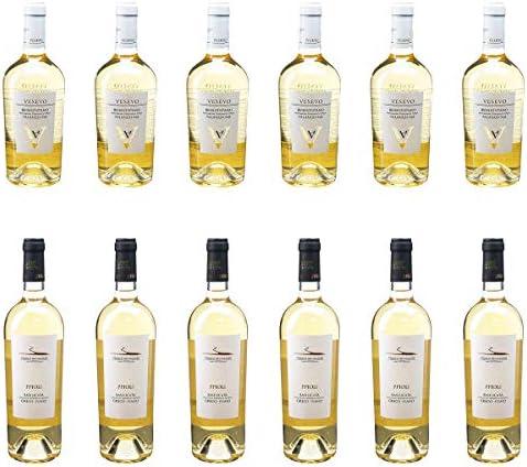 [ 12本 まとめ買い ワイン 飲み比べ ] 2018年 ベネヴェンターノ ファランギーナ (ヴェゼーヴォ) 750ml と 2018年 ピポリ ビアンコ グレーコ フィアーノ (ヴィニエティ デル ヴルトゥーレ) 750ml ワインセット