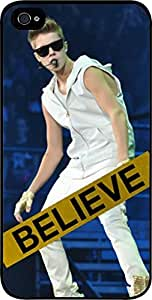 Justin Beiber -Believe - Hard Black Plastic Snap - On Case -Apple Iphone 6 Plus ONLY- Great Quality!