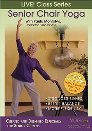 Senior Chair Yoga DVD with Paula Montalvo, 80+yrs Young by ...
