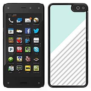 Caucho caso de Shell duro de la cubierta de accesorios de protección BY RAYDREAMMM - Amazon Fire Phone - Modelo azul Blanco Gris Líneas