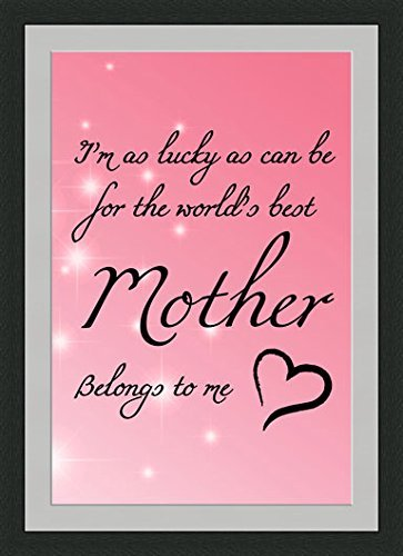 Amazon.com: Best Mother Belongs to Me Quotes Framed Wall Art Wall ...
