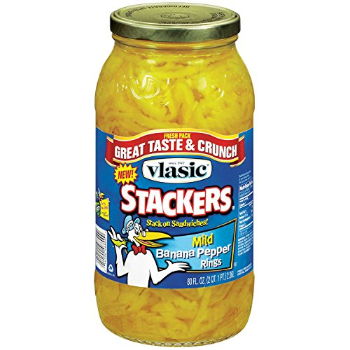 Banana Mild Peppers (Vlasic Banana Pepper Mild Rings Stackers 80 Fl Oz Jar)