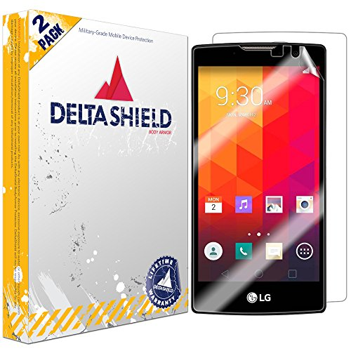 DeltaShield Full Body Skin for LG Volt 2 (2-Pack)(Screen Protector Included) Front and Back Protector BodyArmor Non-Bubble Military-Grade Clear HD Film (Lg Phone Disney Volt Cases)