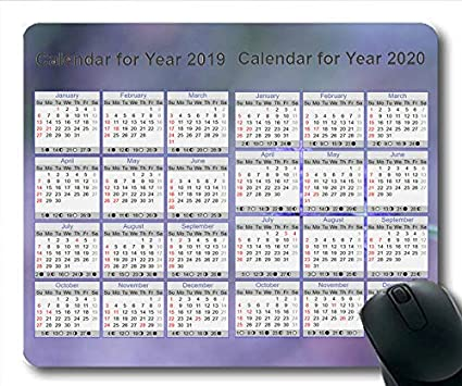 Yanteng 2019 Calendario Alfombrillas para ratón Juegos de ...