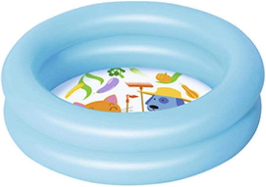 Piscina infantil inflable para niños Piscina de verano para bebés Juego de agua para niños Piscina para bebés Centro inflable para bebés Piscina de plástico de 2 capas, azul