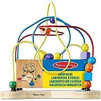 Melissa & Doug Laberinto clásico de cuentas (juguete educativo de madera)