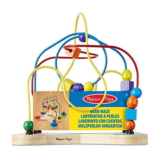 Melissa & Doug 12281 Classic Bead Maze - Wooden Educational Toy ()