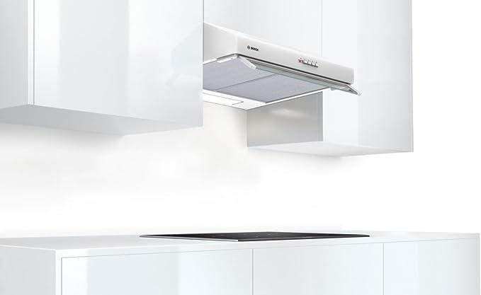 Bosch DUL63CC20 De pared Blanco 350m³/h D - Campana (350 m³/h, Canalizado/Recirculación, E, E, C, 72 dB): Amazon.es: Hogar