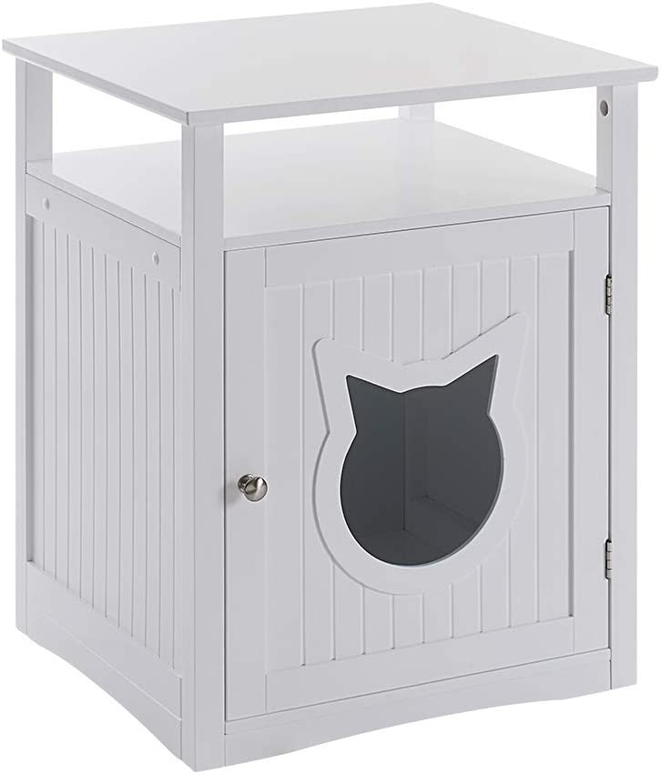 Sweet Barks Nightstand Pet House, Litter Box Furniture Indoor Pet Crate, Litter Box Enclosure, Cat Washroom