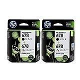 HP 678 Combo Pack -2 = Black -2 & Tricolor -2 = 4 CARTRIDGES.