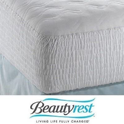 Beautyrest Mattress Pad Bedding Top Protector Cotton Cover Bed Bedroom Sleep