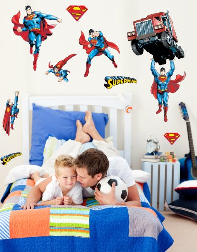 "DC Comics ""Superman"" Day of Doom Wall Decal Cutouts 18""x40"""