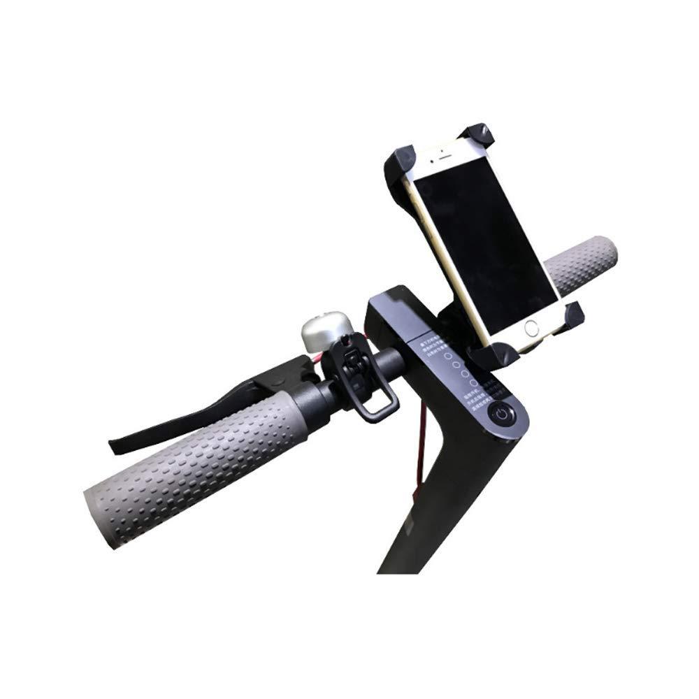 Linghuang Soporte para teléfono Scooter Ajustable Soporte para el Soporte del Soporte del Soporte para el monopatín eléctrico Xiaomi Mijia M365