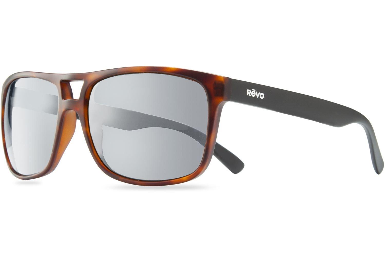 Revo Holsby Style and Performance Polarized Sunglasses, RE1019, Matte Dark Tortoise, 58 mm