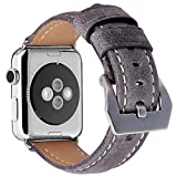 Kobwa [New Version] 38mm/42mm Leather Replacement Watch Band Strap For Apple IWatch Sport Nike Edition Series 1/2 Watch Accessories