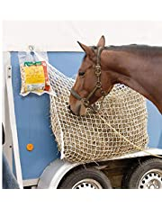 """ANQIA Full Day Slow Feed Hay Net Bag,1.2"""" Hole Mesh Net Horse Feeder Bag, Reduces Horse Feeding Anxiety and Behavioral Issues ((Large - 63""""×39"""" ))"""