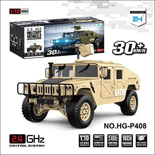ROWEQPP HG-P408 1/10 Truck Simulation Car RC Car Professional Remote Control Car Desert Yellow US regulations