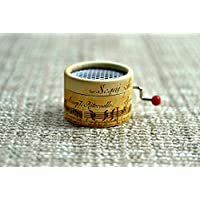Music Box Musical Staff with the melody * La vie en Rose *. Hand cranked. Musical mechanism. The best gift for music lovers