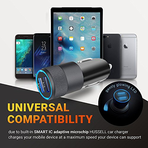 iPhone Car Charger, 3.1A Rapid Dual Port USB Car Charger + Lightning Cable Compatible iPhone X/8/8 Plus/7/6s/6s Plus 5S 5 5C SE,iPad More by UltraSealers (Image #3)
