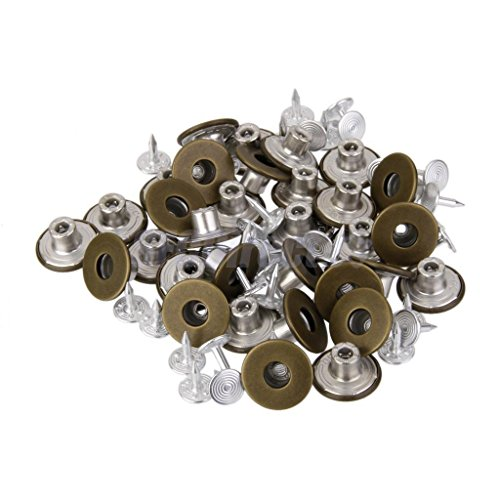 50Sets No Sew Replacement Metal Tack Snap Fastener Studs Jean Pants Buttons 17mm Bronze by sfcdirect