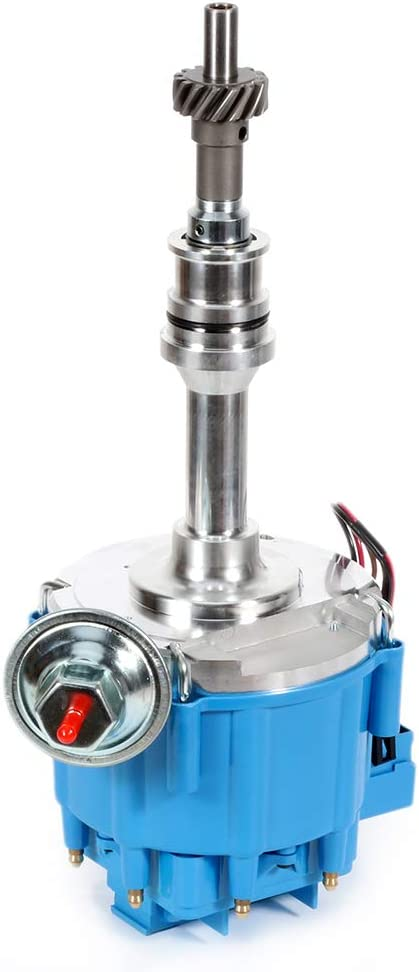 ECCPP Ignition Distributor with Blue HEI Cap 65,000 Volt Fits for Ford 351C 351M 400M 429 460 Compatible with OE 1046013 351CBLHEI0