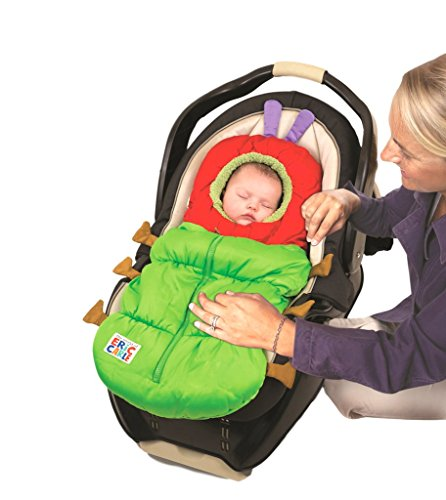 Eric Carle Infant Car Seat Cover, Car Seat Bunting Car Seat Footmuff, Infant Carrier Sleep Sack, Toddler Bundle Me, Baby Bunting Bag, Baby Stroller Sleeping Bag, Polyester, The Very Hungry Caterpillar]()