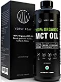 Verve Leaf – 100% Organic Virgin MCT Coconut Oil – Perfect Source of Sustained Energy from Fat and Gets You in The Ketosis Zone Fast – Boosts Cognitive Function, Mental Clarity and Focus – 32 oz Review