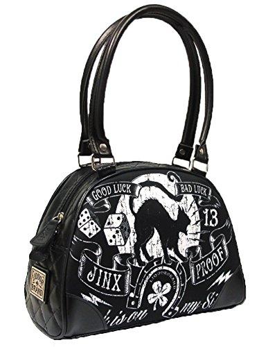 Liquorbrand Jinx Proof Halloween Black Cat Luck Goth Gothic Shoulder Bag Purse (Gothic Purse)
