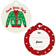 Ugly Sweater - Holiday & Christmas Favor Gift Tags - Set of 20