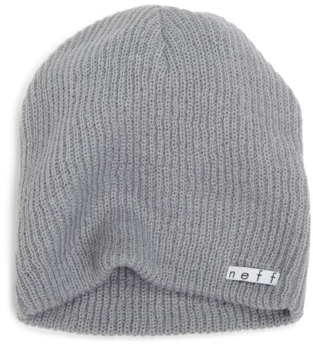 Neff Unisex Daily Beanie, Warm, Slouchy, Soft Headwear, Fog, One Size