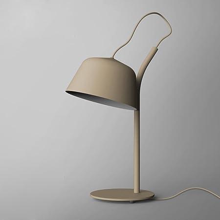 LJX Personalidad Simple Gris Creativo Sala de Estar Lámpara de ...