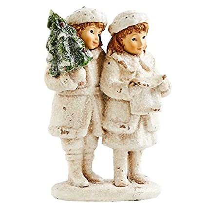 6.5 Inch Boy And Girl With Tree By KK Interiors, Inc #51832A