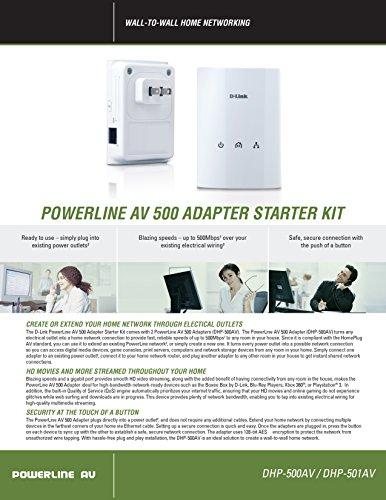 D-Link PowerLine Adapter AV500 Gigabit Mini Starter Kit (DHP-501AV) by D-Link (Image #7)