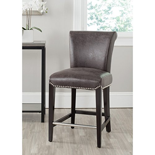 Safavieh Mercer Collection Seth Antique Brown 25.9-inch Counter Stool