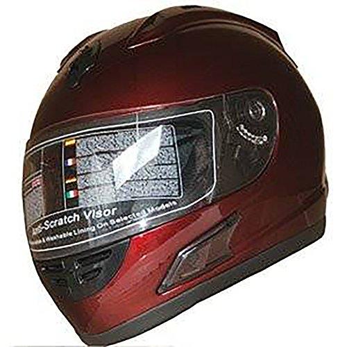 Burgundy Motorcycle Helmet - 1