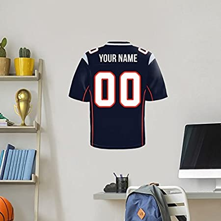 Personalized Football Jersey Wall Decal Label Greenbay