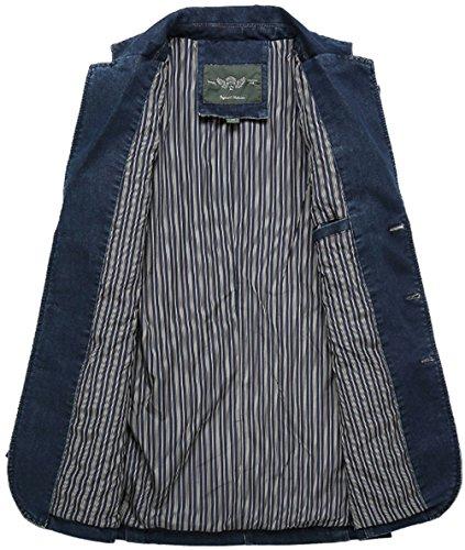 Jacket Jacket Foncé Casual Mens Blazer Nouveau Veste Homme Homme Homme Cowboy Costume 6FvxqXw