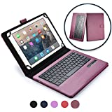 Cooper Infinite Executive Keyboard case Compatible with Verizon Ellipsis 10 | 2-in-1 Bluetooth Wireless Keyboard & Leather Folio Cover | 100HR Battery, 14 Hotkeys (Purple)