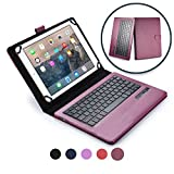 Microsoft Surface 3 keyboard case, COOPER INFINITE EXECUTIVE 2-in-1 Wireless Bluetooth Keyboard Magnetic Leather Travel Cases Cover Holder Folio Portfolio + Stand 1645, 1657 (Dark Purple)