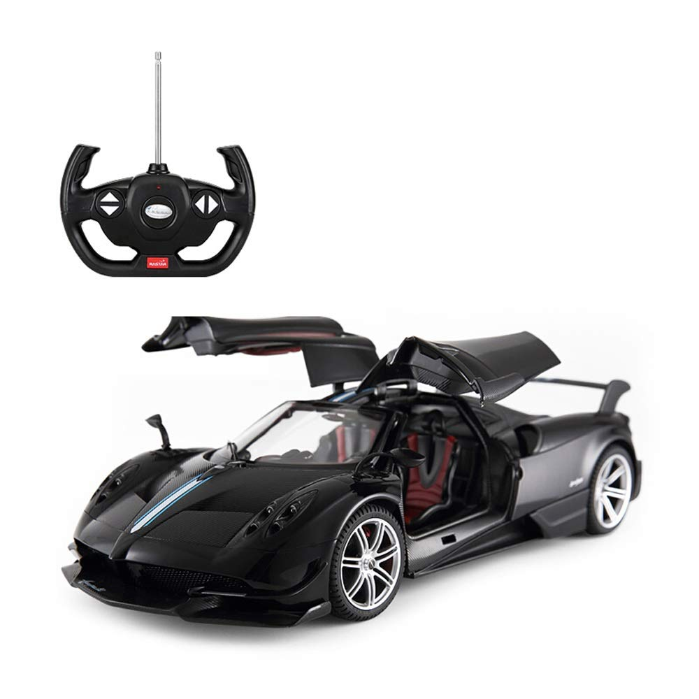 Black Kikioo Simulation LaFeerrarii Rechargeable Remote Control Car 1 14 Scale Model Official Dasher Stunt Vehicle Flashing Light One Touch Opening Doors Electric RC Drifting Racing Fightint Sports Cars Bla