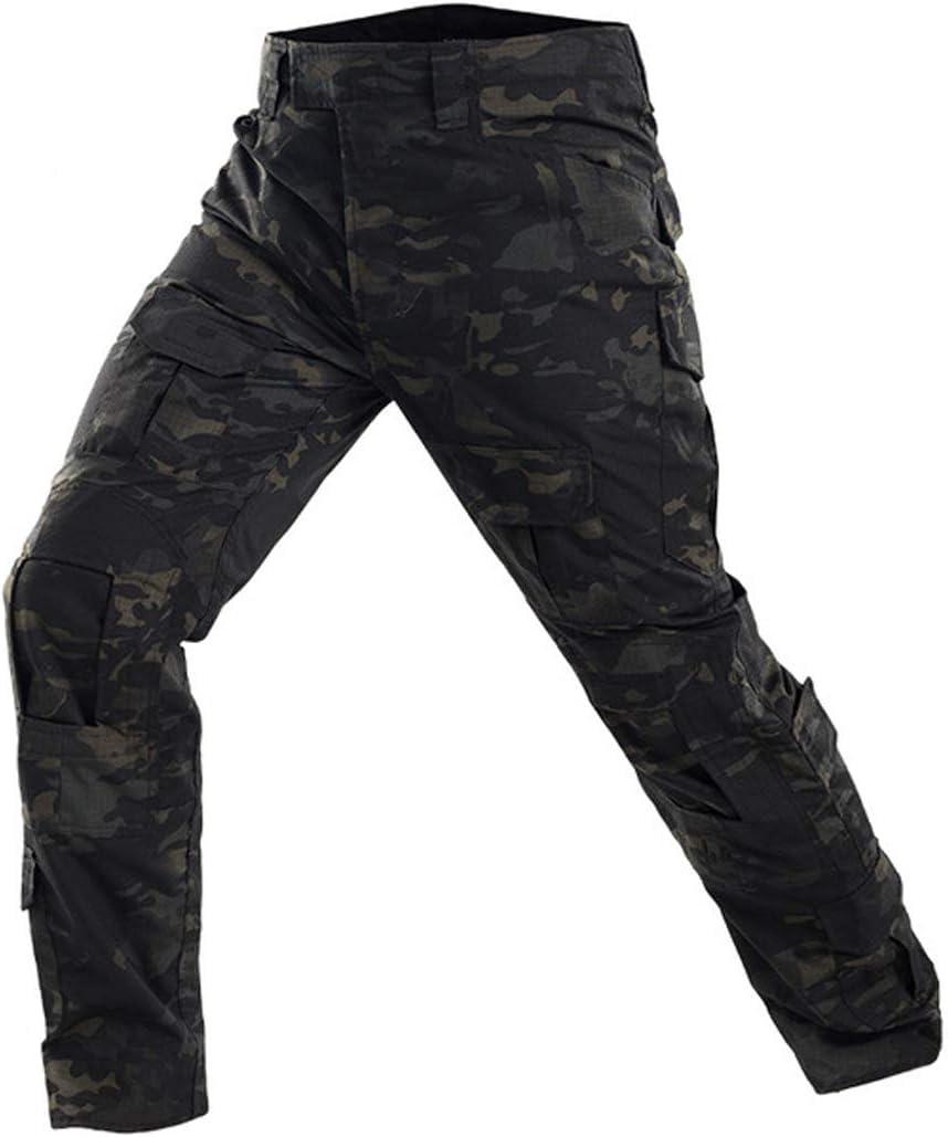 Pantalones de Combate de Camuflaje Camo Combat BDU Pantalones para Paintball de ej/ército Militar t/áctico QMFIVE Pantalones de Airsoft